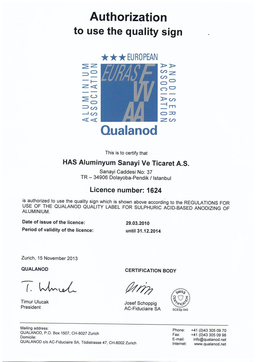 Qualanod 2014 QND-TR-1624